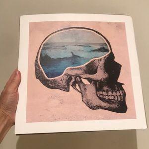 Society 6 NWT Skull /Ocean Illusion Print/Poster